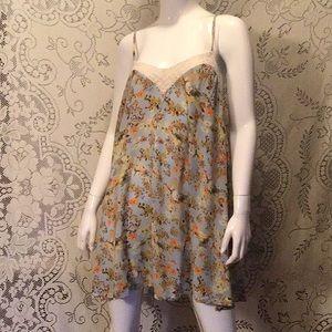 Floral & Crochet Slip Dress